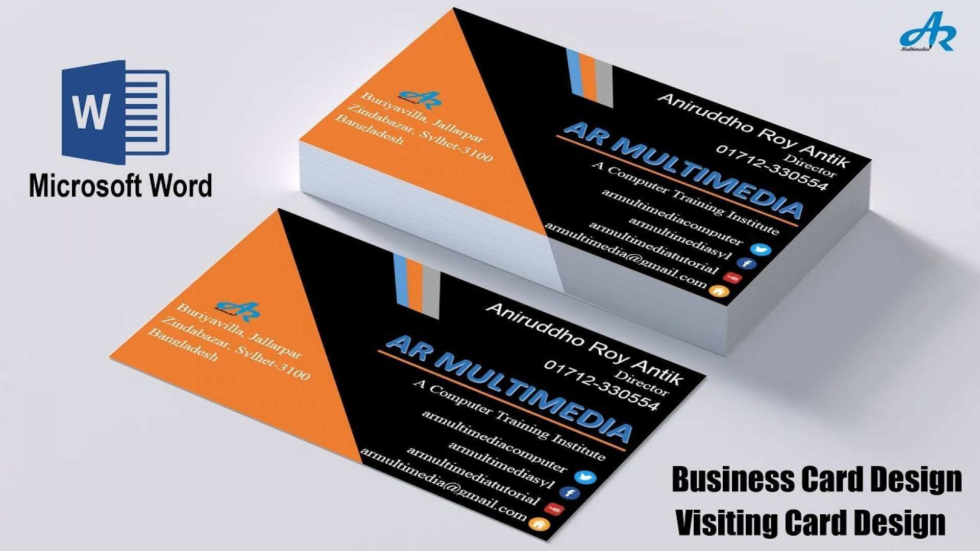 37 Visiting Microsoft Office Word 2007 Business Card Template in ...