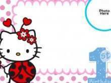 38 Best Birthday Card Template Hello Kitty in Photoshop for Birthday Card Template Hello Kitty