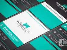 Business Card Template Horizontal
