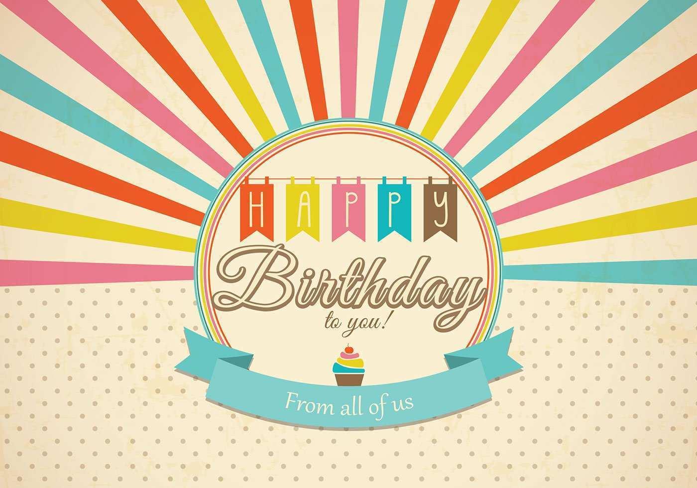 38 Blank Birthday Card Vintage Template Download with Birthday Card Vintage Template