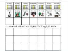 38 Blank Visual Schedule Template Word PSD File for Visual Schedule Template Word