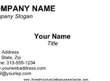 38 Create Business Card Templates Blank Formating for Business Card Templates Blank