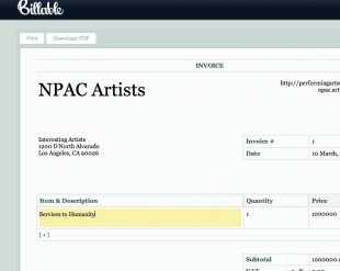 38 Creating Artist Performance Invoice Template in Photoshop by Artist Performance Invoice Template