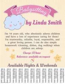 38 Creating Babysitting Flyer Free Template Now with Babysitting Flyer Free Template