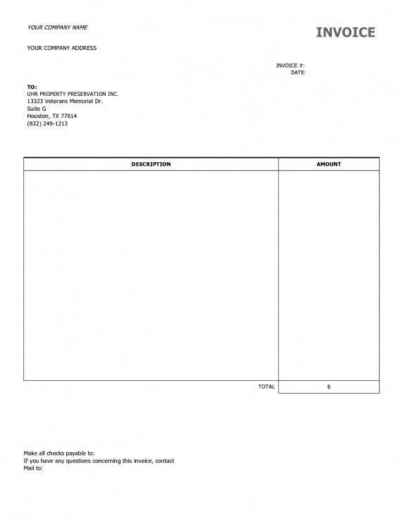 38 Creating Basic Blank Invoice Template With Stunning Design for Basic Blank Invoice Template