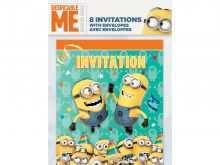 38 Creating Birthday Invitation Card Template Minion for Ms Word with Birthday Invitation Card Template Minion