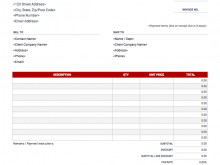 A Invoice Template