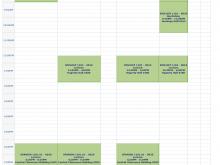 38 Format College Class Schedule Template Printable Templates by College Class Schedule Template Printable