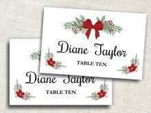38 Format Holiday Place Card Template Word For Free by Holiday Place Card Template Word