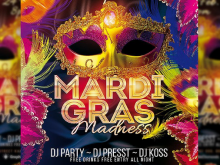 Mardi Gras Party Flyer Templates Free