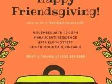 Thanksgiving Potluck Flyer Template Free