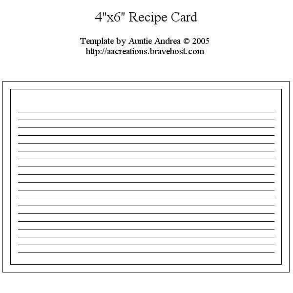 38 Free 6 X 4 Index Card Template Layouts for 6 X 4 Index Card Template