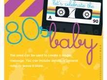 80S Birthday Card Template