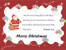 Christmas Card Template Ecard