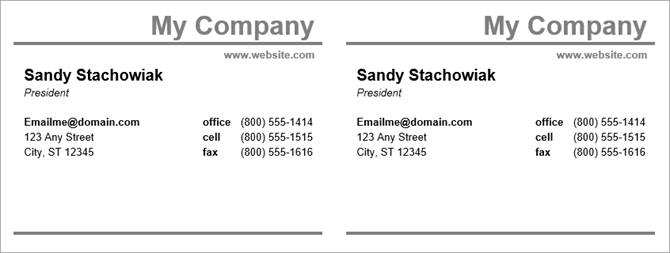 38 How To Create Business Card Templates On Word With Stunning Design by Business Card Templates On Word
