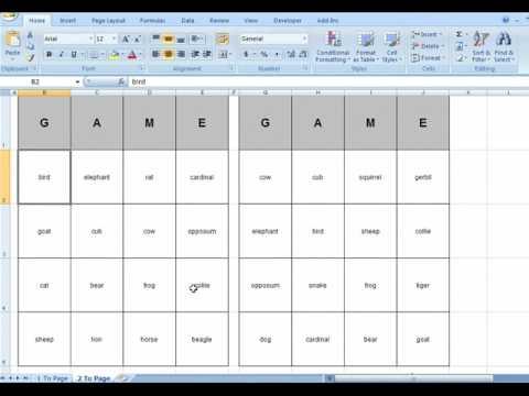 38 Report Bingo Card Template 5X5 Excel PSD File with Bingo Card Template 5X5 Excel