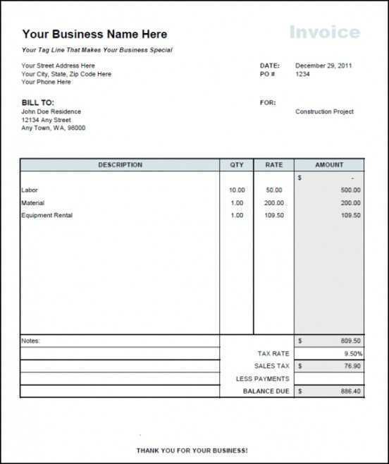 38 Report Monthly Invoice Example Photo for Monthly Invoice Example