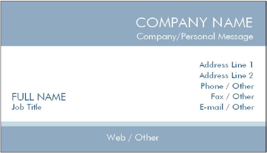 38 Standard Business Card Template For Job Seeker Layouts for Business Card Template For Job Seeker