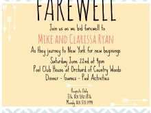 38 Standard Farewell Invitation Card Template Free in Photoshop by Farewell Invitation Card Template Free
