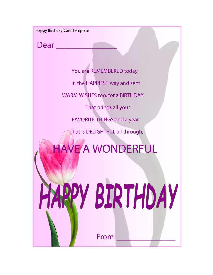 happy birthday card template printable  cards design