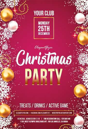 39 Create Christmas Party Flyers Templates Free in Photoshop with Christmas Party Flyers Templates Free