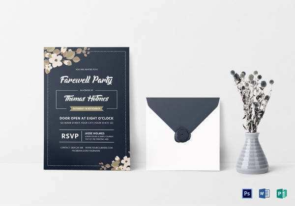 39 Create Farewell Party Invitation Card Templates PSD File with Farewell Party Invitation Card Templates
