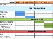 Timeline Production Schedule Template