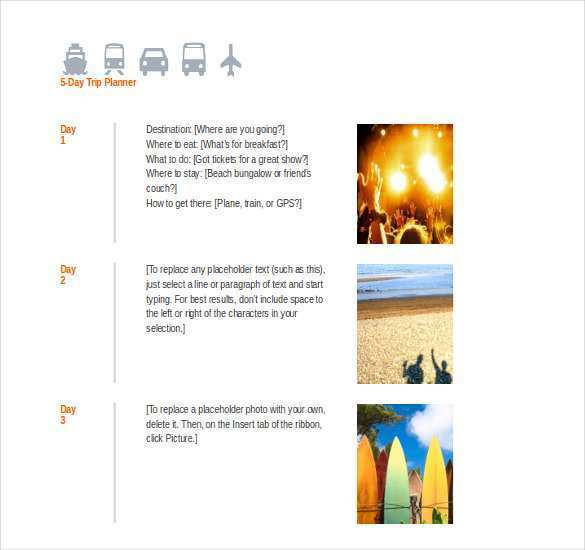 39 Customize 4 Day Travel Itinerary Template Photo with 4 Day Travel Itinerary Template