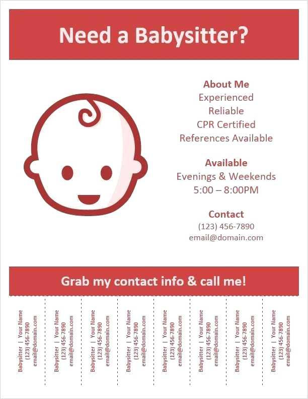 39 Customize Our Free Babysitting Flyer Free Template Formating with Babysitting Flyer Free Template