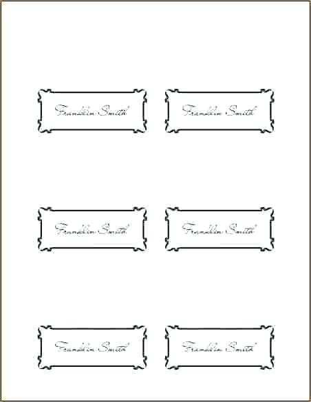 39 Customize Our Free Free Place Card Template For Word for Free Place Card Template For Word