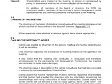 39 Format Template Of Agm Agenda PSD File by Template Of Agm Agenda