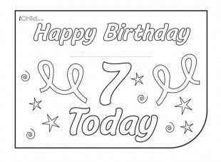39 Free 7Th Birthday Card Template Download for 7Th Birthday Card Template