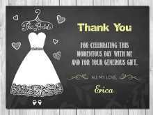 39 How To Create Free Bridal Shower Thank You Card Templates Photo for Free Bridal Shower Thank You Card Templates