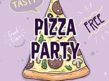 Pizza Party Flyer Template Free