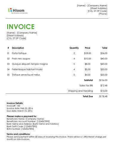 39 Online A Invoice Template With Stunning Design with A Invoice Template
