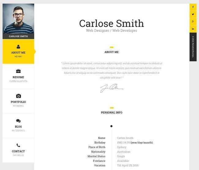 39 Online Business Card Template Html Now by Business Card Template Html