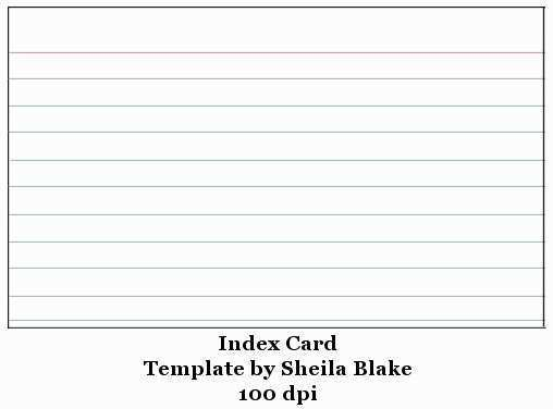 39 Printable 3X5 Note Card Template For Word in Word for 3X5 Note Card Template For Word