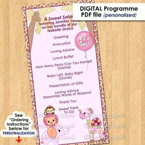 39 Printable Baby Shower Agenda Template Free Psd File For Baby Shower Agenda Template Free Cards Design Templates