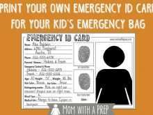 39 Printable Emergency Id Card Template in Word with Emergency Id Card Template
