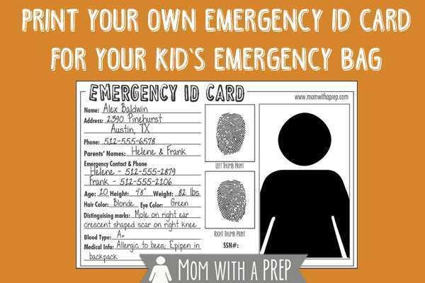 39 Printable Emergency Id Card Template in Word with Emergency Id Card Template