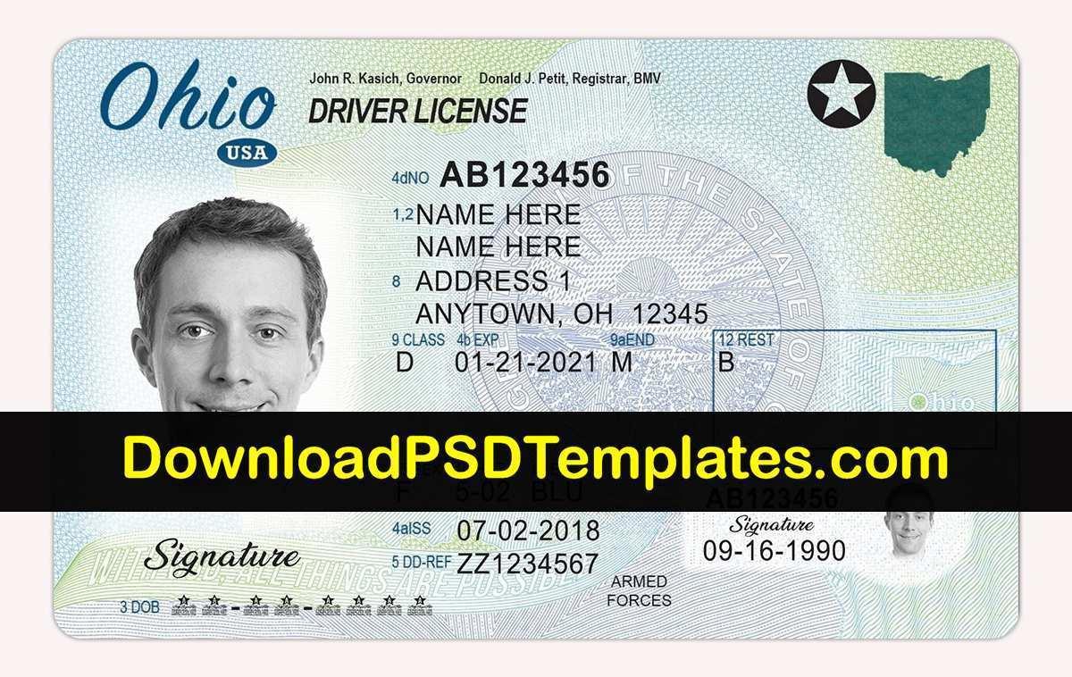 39 Printable Ohio Id Card Template Photo by Ohio Id Card Template