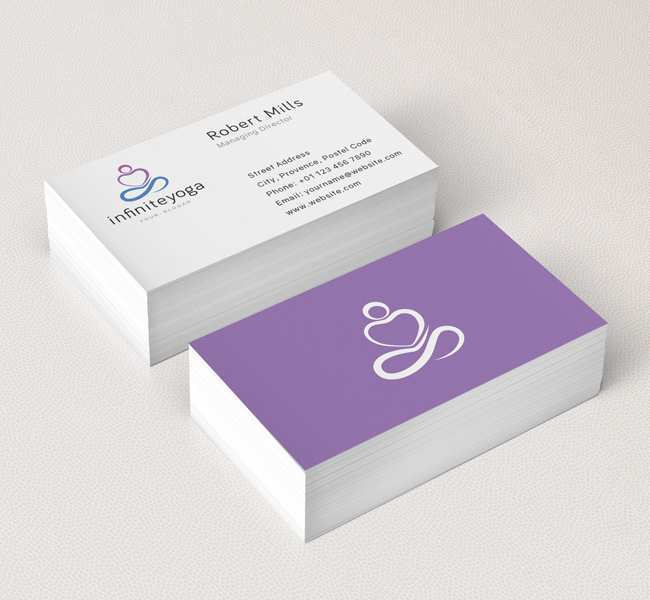 39 Visiting Business Card Template Yoga With Stunning Design by Business Card Template Yoga