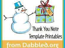 Thank You Card Template Print