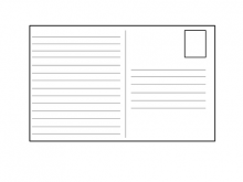 40 Adding A4 Postcard Template With Lines Formating for A4 Postcard Template With Lines