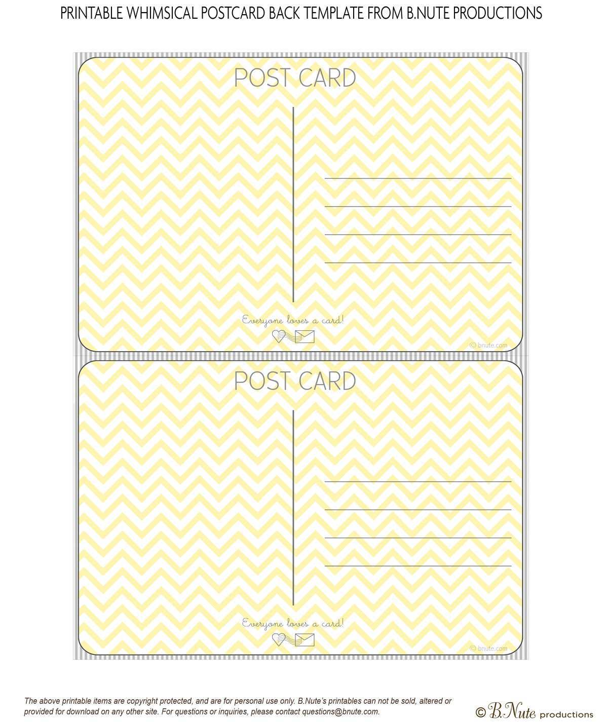 40 Adding Template Of Postcard Free Printable Formating for Template Of Postcard Free Printable