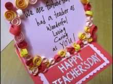 40 Blank Card Template For Teachers Day PSD File for Card Template For Teachers Day
