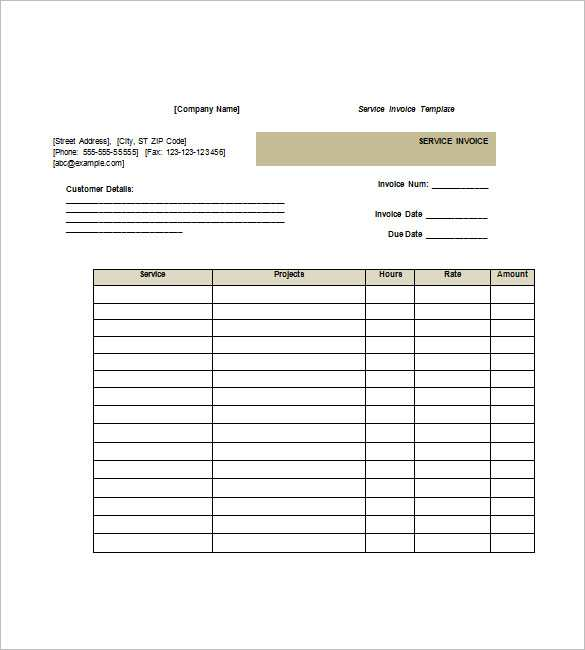 40 Blank Invoice Template Services Now For Invoice Template Services Cards Design Templates