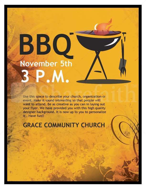40 Creating Bbq Fundraiser Flyer Template for Ms Word by Bbq Fundraiser Flyer Template
