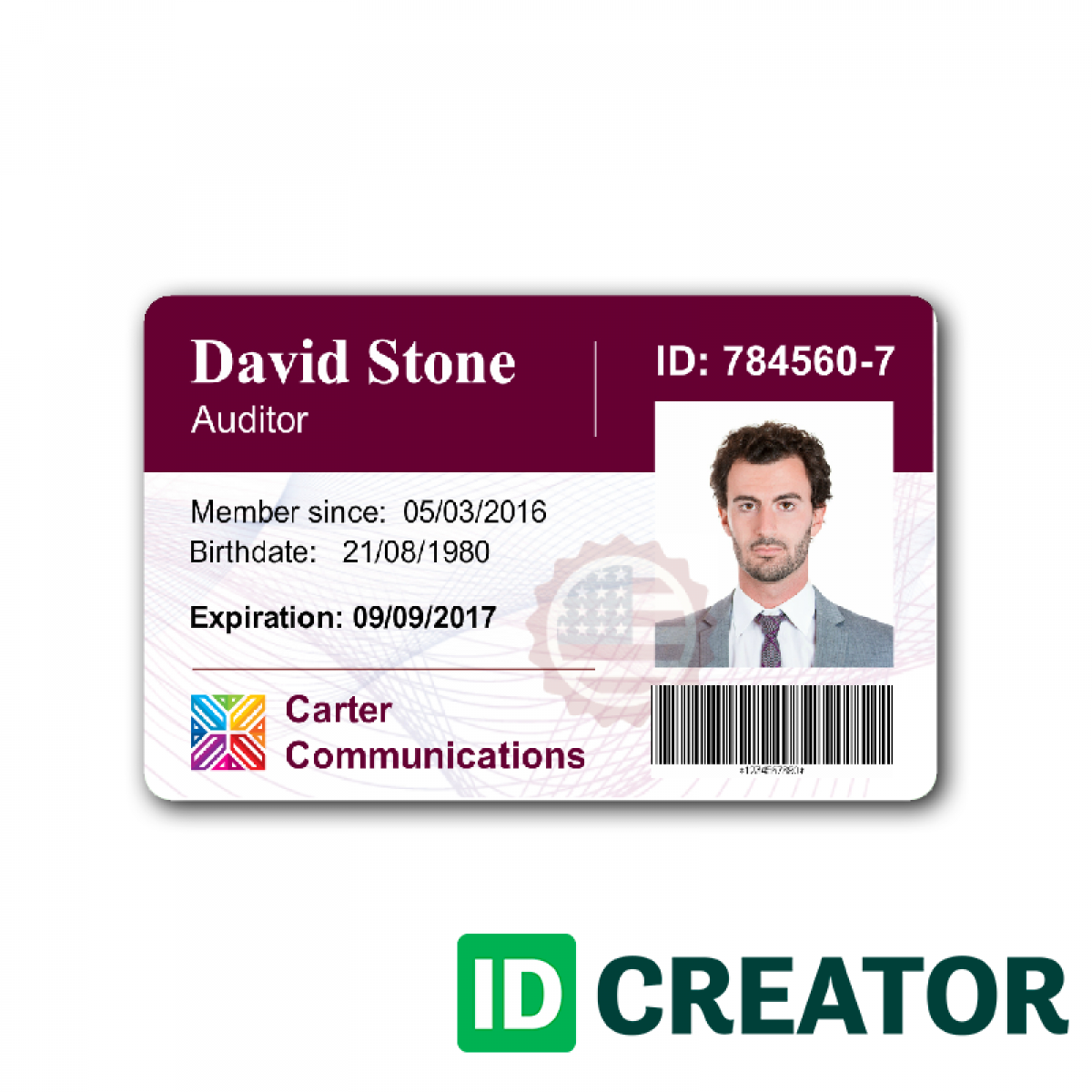 Employee Id Card Template Microsoft Word Free Download