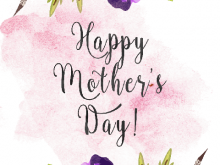 Homemade Mothers Day Card Templates